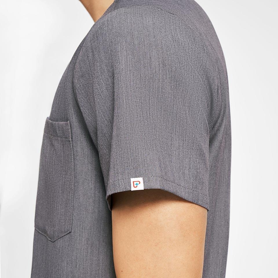 Men's Three-Pocket Scrub Top