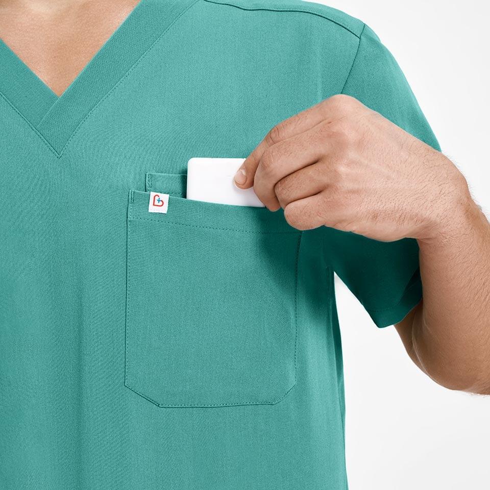 Men's Two-Pocket Scrub Top